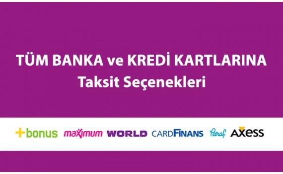 Tüm Banka ve Kredi Kartlarına Taksit Seçeneği