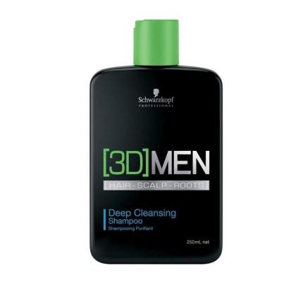 3D Men Deep Cleansing Shampoo Derin Temizleme Şampuanı 250 ml