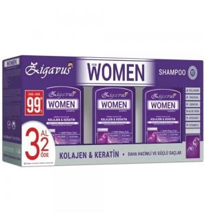 Zigavus Kolajen&Keratin Kadın Şampuanı 3 Al 2 Öde 3X300ml