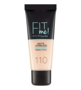 Maybelline New York Fit Me Matte+Poreless Fondöten - 110 Porcelain